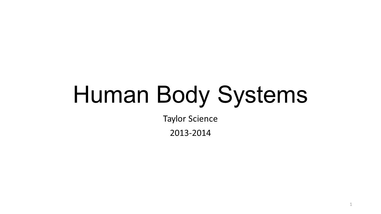 Human Body Systems Taylor Science