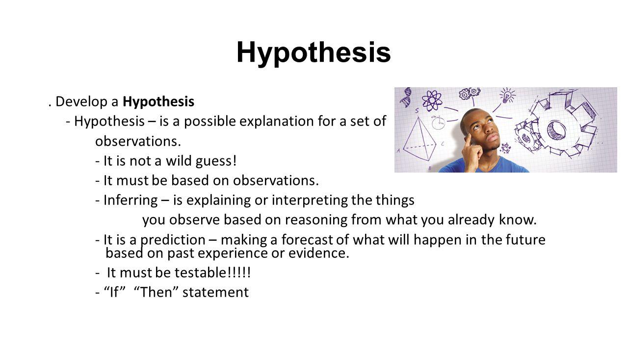 Develop hypothesis