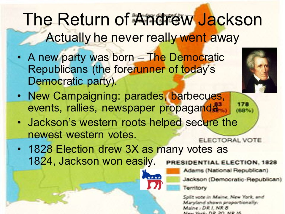 an overview of the republican party under the leadership of andrew jackson At his inauguration, james madison, a small came the development of the republican, or jeffersonian, party climaxed by gen andrew jackson.