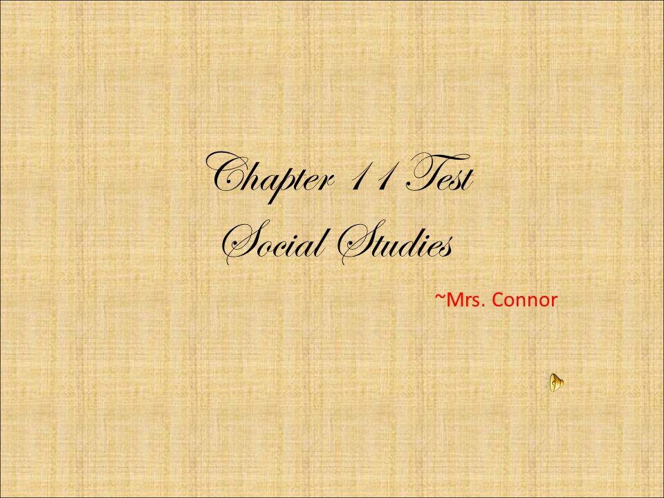 Chapter 11 Test Social Studies ~Mrs. Connor. The President's ...
