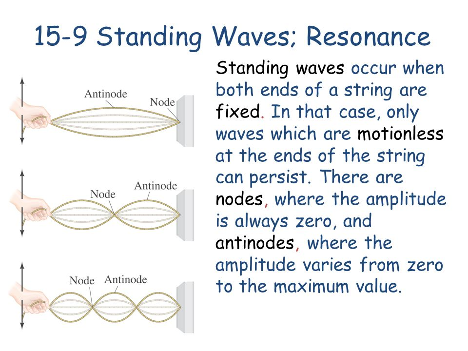 Standing waves occur when both ends of a string are fixed.
