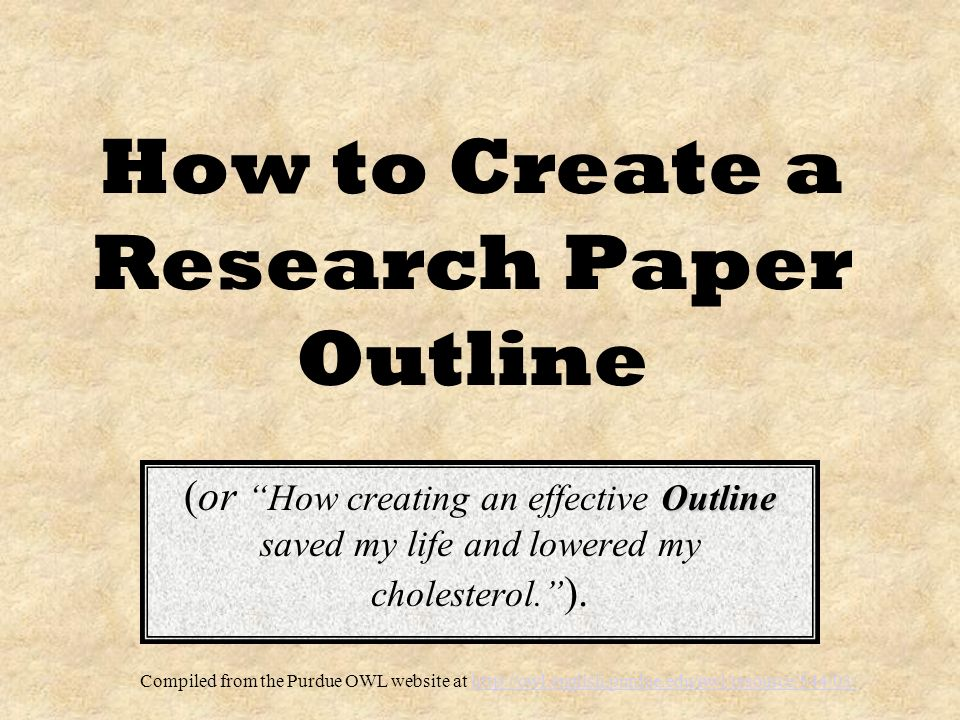 creating outlines for research papers This is a formal outline for your final research paper it will present your thesis, the major points in support of that thesis, and the sub-points supporting each major point it will present your thesis, the major points in support of that thesis, and the sub-points supporting each major point.
