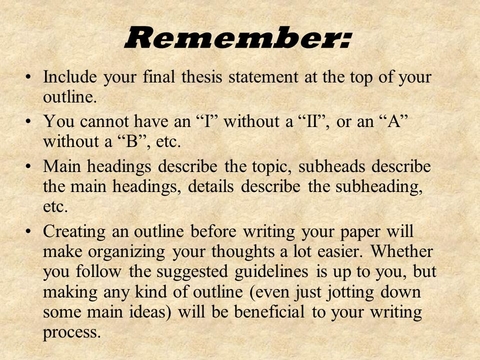 creating a outline for a research paper Creating an argument outline argument/research paper outline some areas of each roman numeral may or may not apply to your essay i introduction.