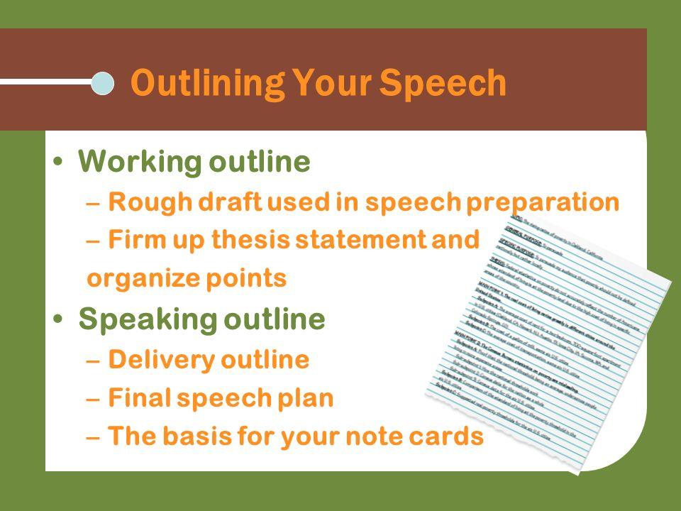 Thesis Statement In Speech