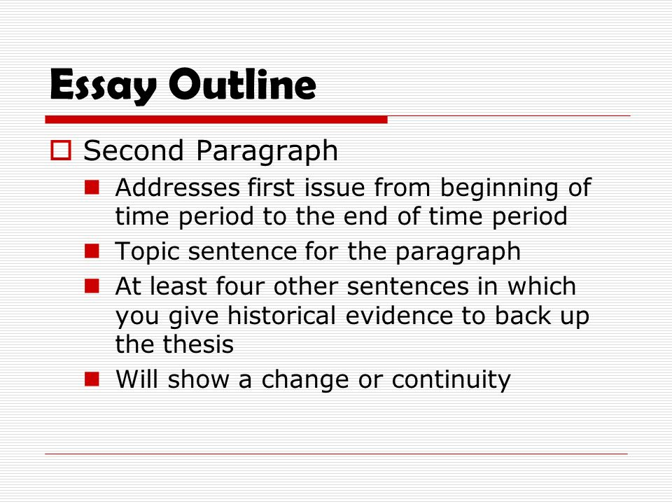 History of the essay