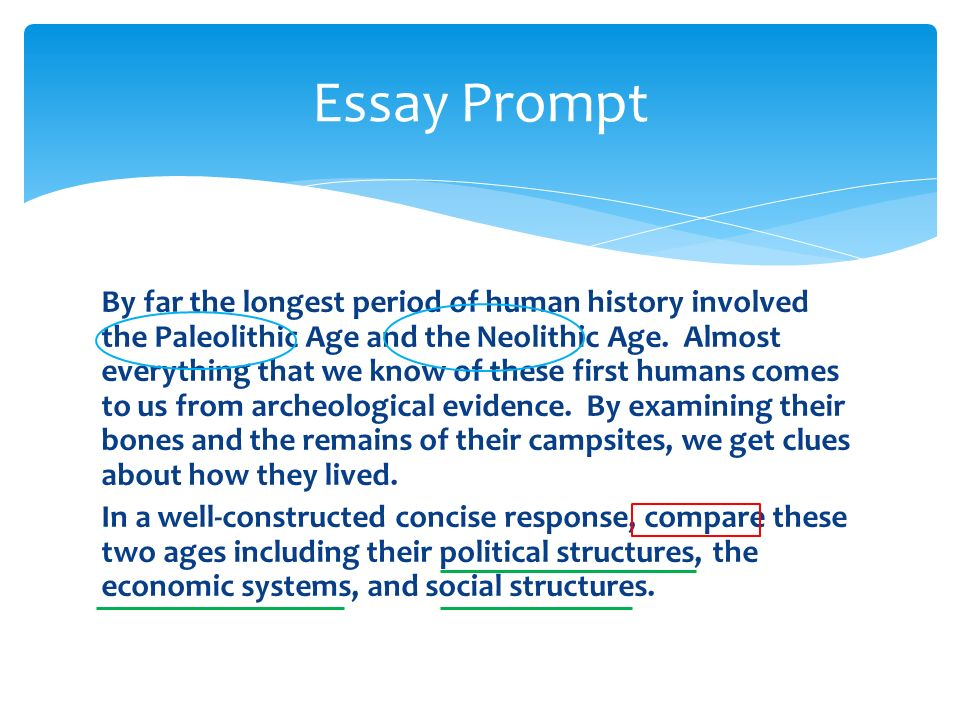 ap world comparative essay prompts Write an essay that: • has a relevant thesis and supports that thesis with evidence from the documents 2014 ap ® world history free-response questions.