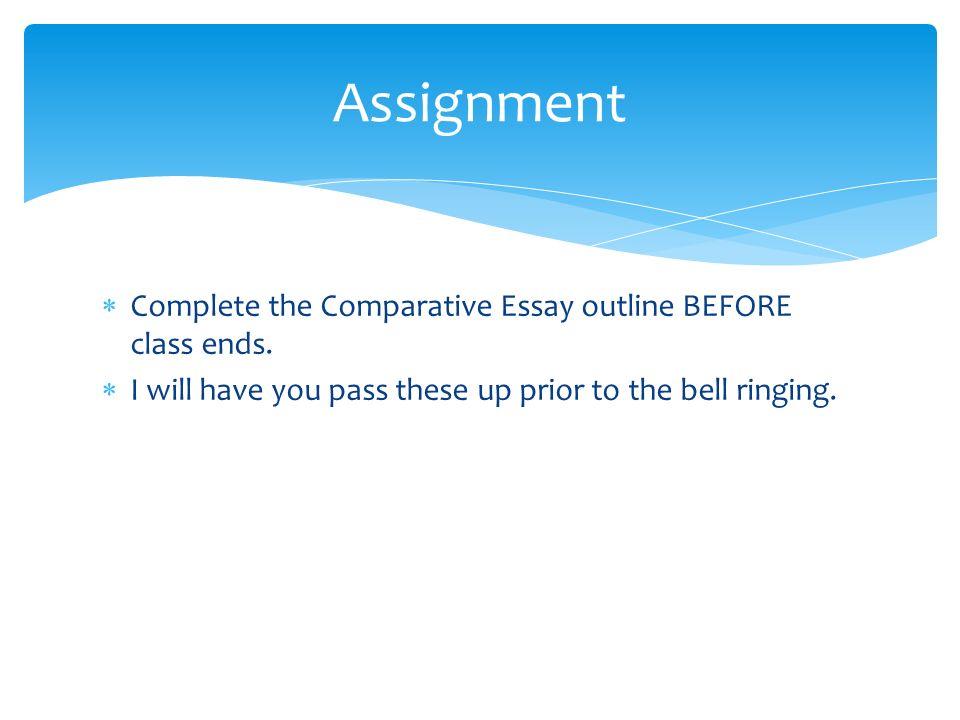 Comparison Essay Format