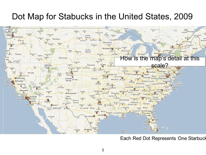 STARBUCKS Mapping Dot Choropleth Graduated Circle And Cartogram - Us census dot map