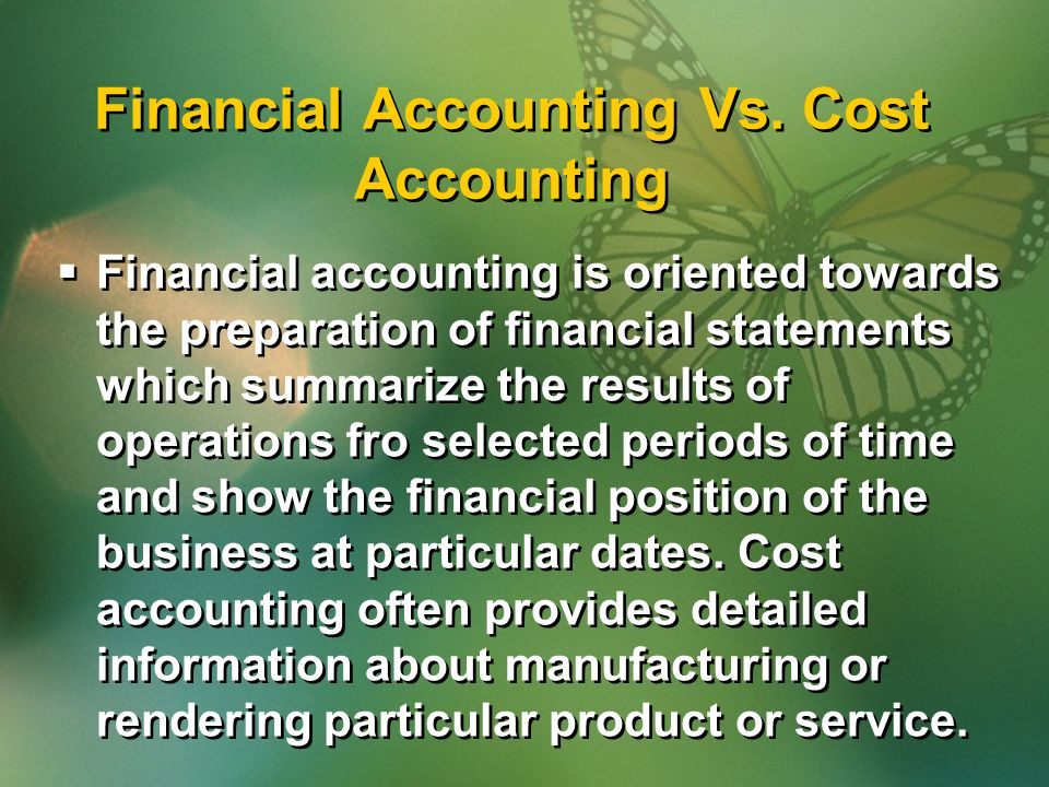 Financial Accounting Vs.