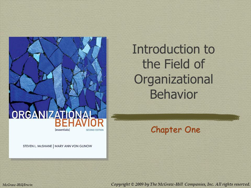 introduction to organizational behavior Mymanagementlab for organizational behavior is a total learning package mymanagementlab is an online homework, tutorial, and assessment program that truly engages students in learning mymanagementlab is an online homework, tutorial, and assessment program that truly engages students in learning.