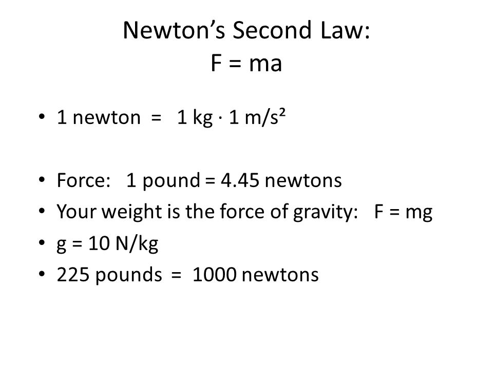 newton s second law 1 Newton's second law is an approximation that is increasingly worse at high speeds because of relativistic effects and section 51, newton's third law.