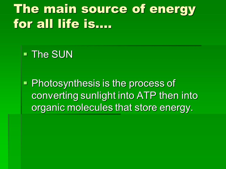 Photosynthesis  Is defined as…  A process by which light ...