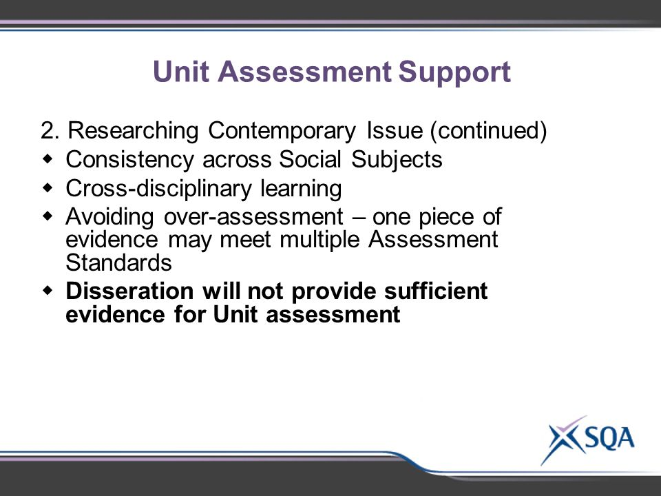 Unit Assessment Support 2.