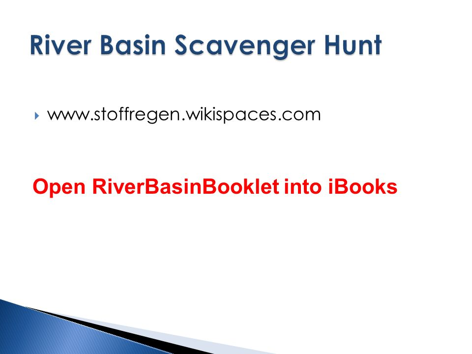    Open RiverBasinBooklet into iBooks