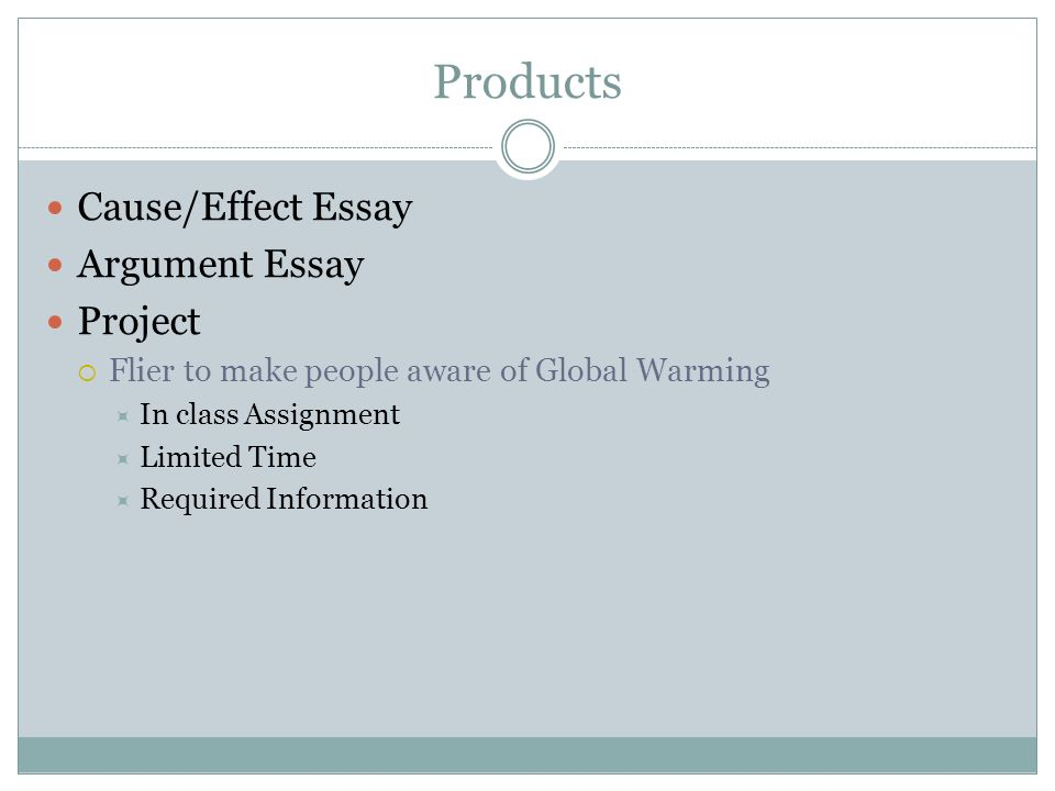 causes global warming argumentative essay Climate change, argumentative essay - the cause of global warming: pollution.