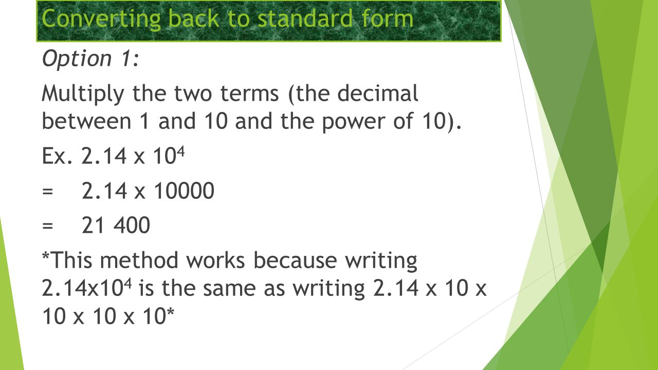 Scientific notation shorten the text message the following 12 converting back to standard form falaconquin