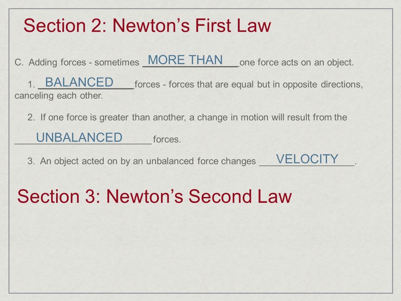 Note Taking Worksheet The Laws Of Motion - note taking worksheet ...