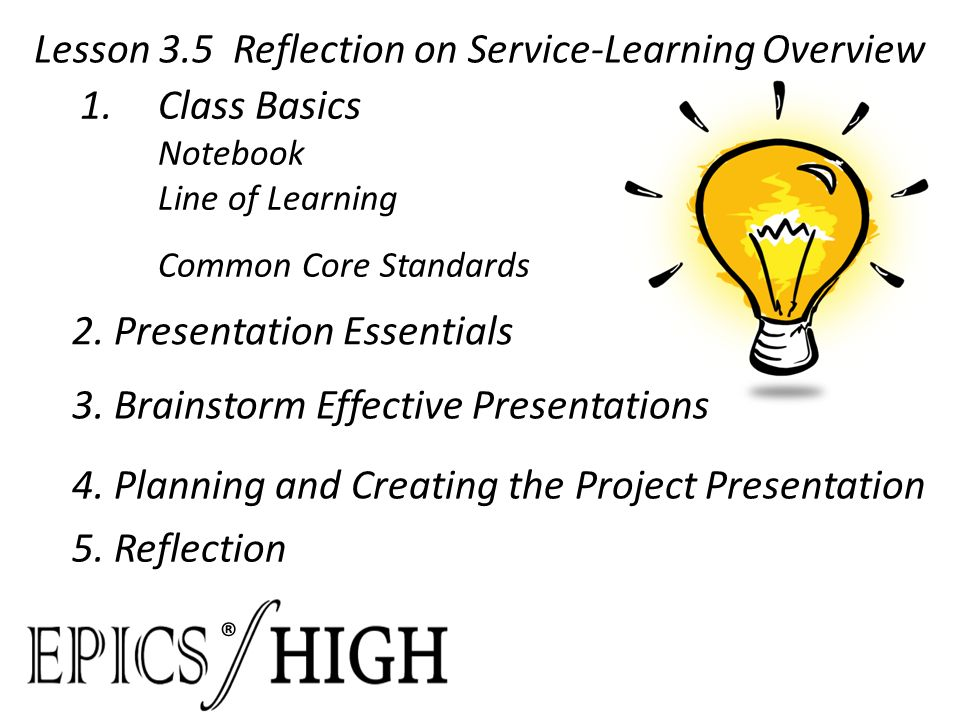 reflection on service learning