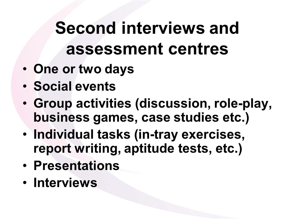 case study presentation assessment centre Jobtestprep offers practice packages to prepare for assessment centre case studies typically read about what a case study interview involves.