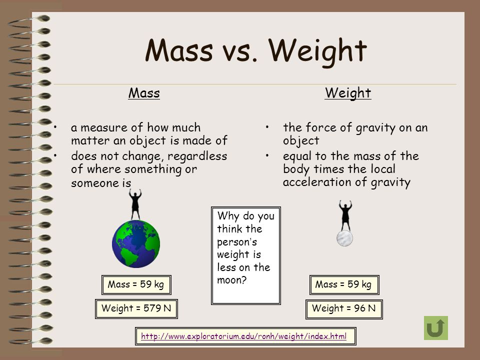 Worksheets Mass Vs Weight Worksheet monday october 28 th 2013 entry taskwarm up please take your mass vs weight a measure of how much matter an object is made of