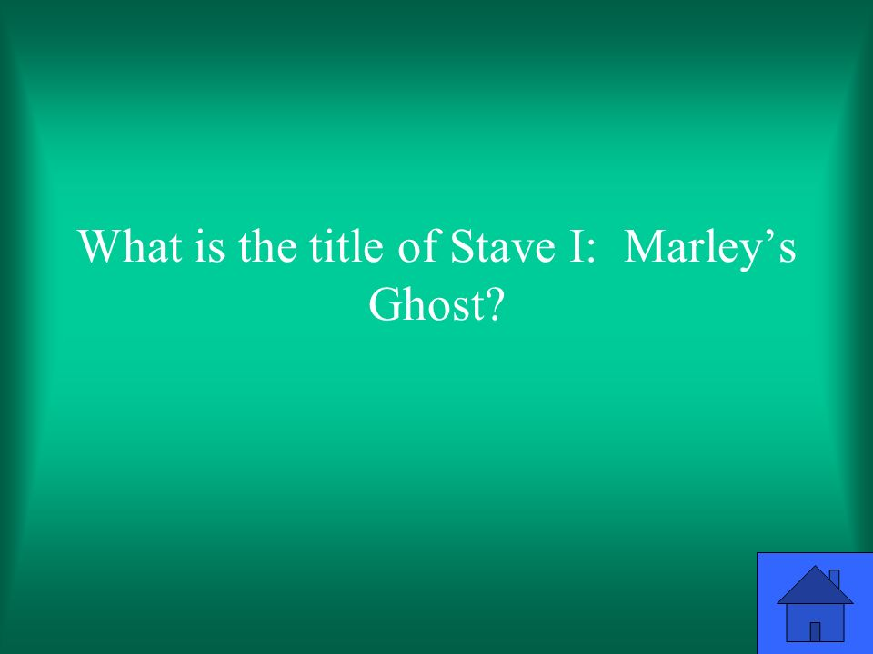 What is the title of Stave I: Marley's Ghost