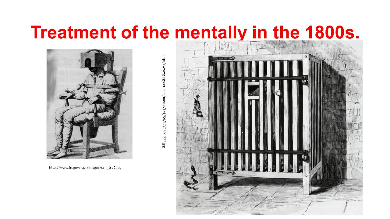 Treatment of the mentally in the 1800s.
