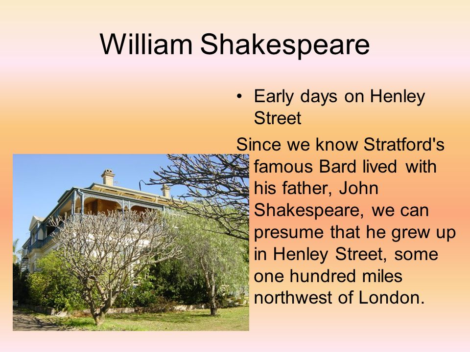 a biography william shakespeares early life and his family William shakespeare: william shakespeare this film recounts the life of shakespeare from his early boyhood through his biography of william shakespeare.