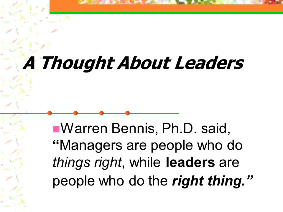 Who Is A Leader.