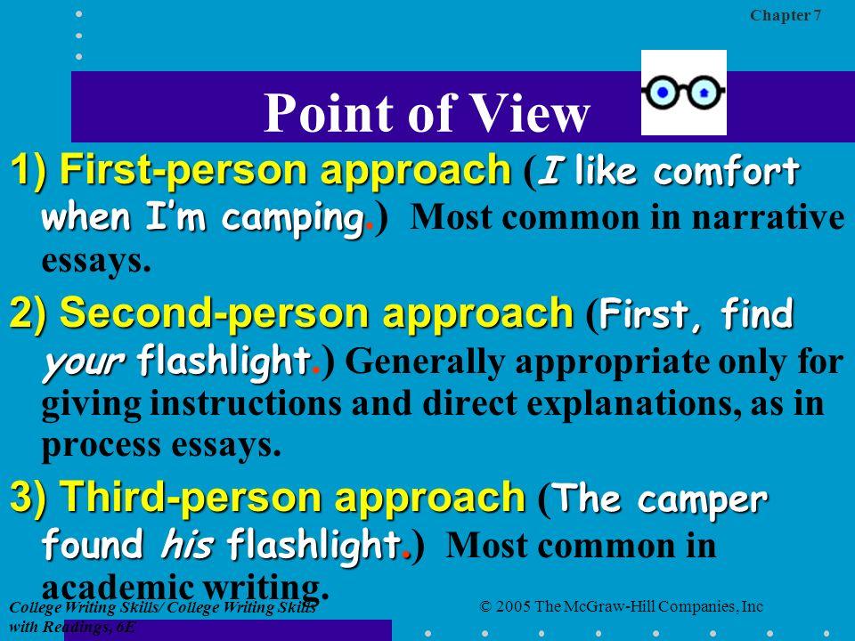 essays in third person