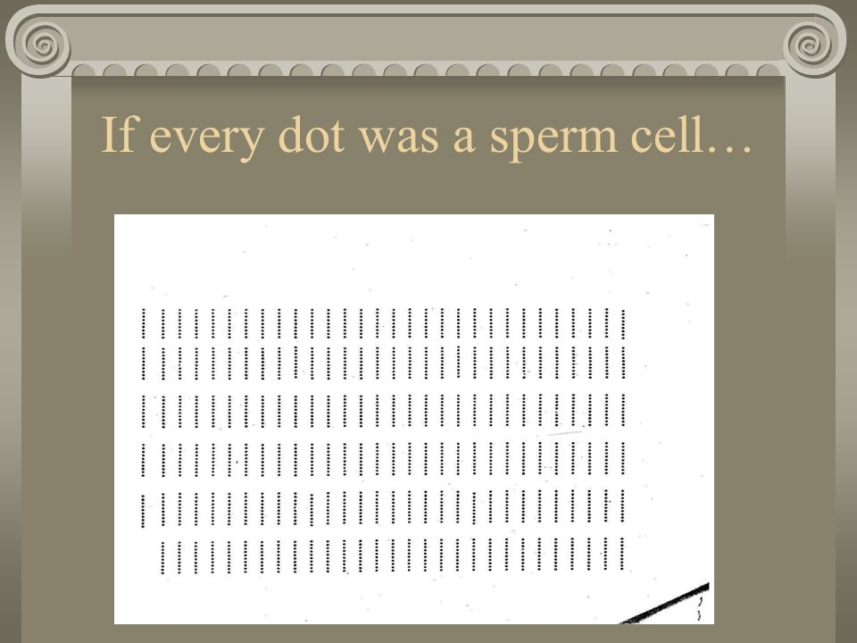 If every dot was a sperm cell…