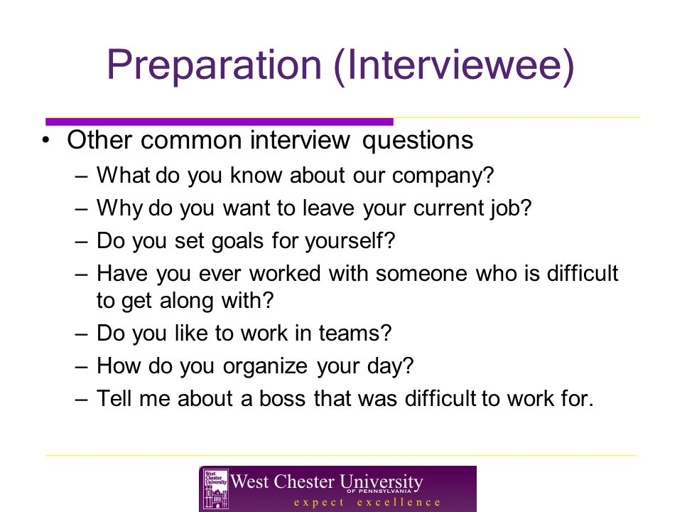 Preparation (Interviewee) Other Common Interview Questions U2013What Do You  Know About Our Company