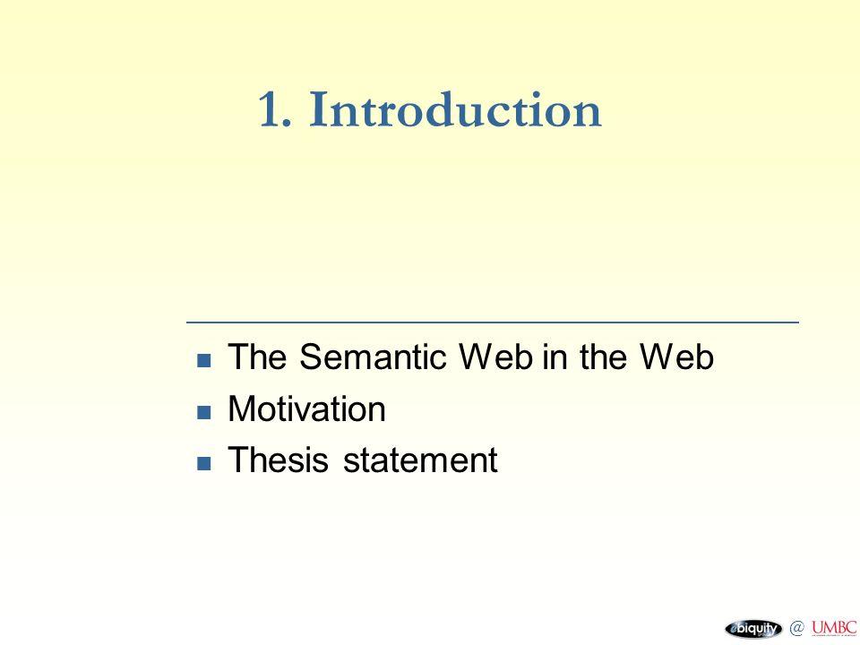 motivation thesis statement