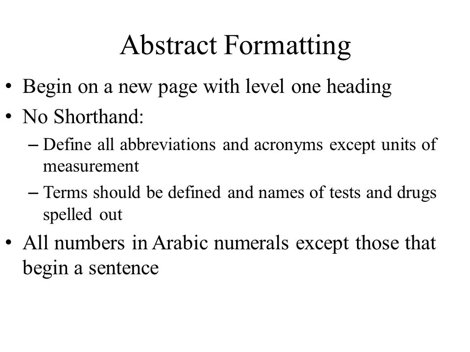 Apa Format Abstract  Introduction Psychology  October  Ppt
