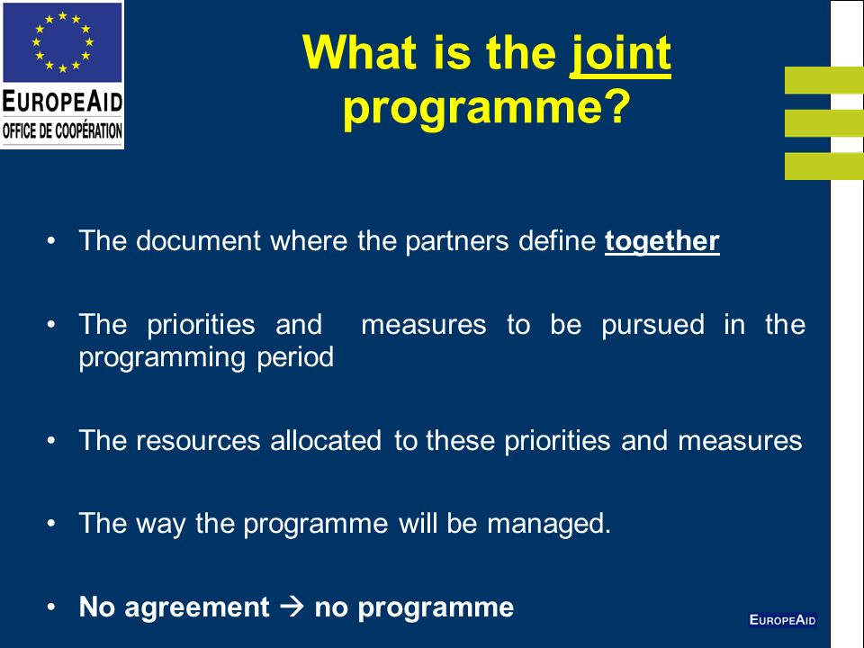 What is the joint programme.