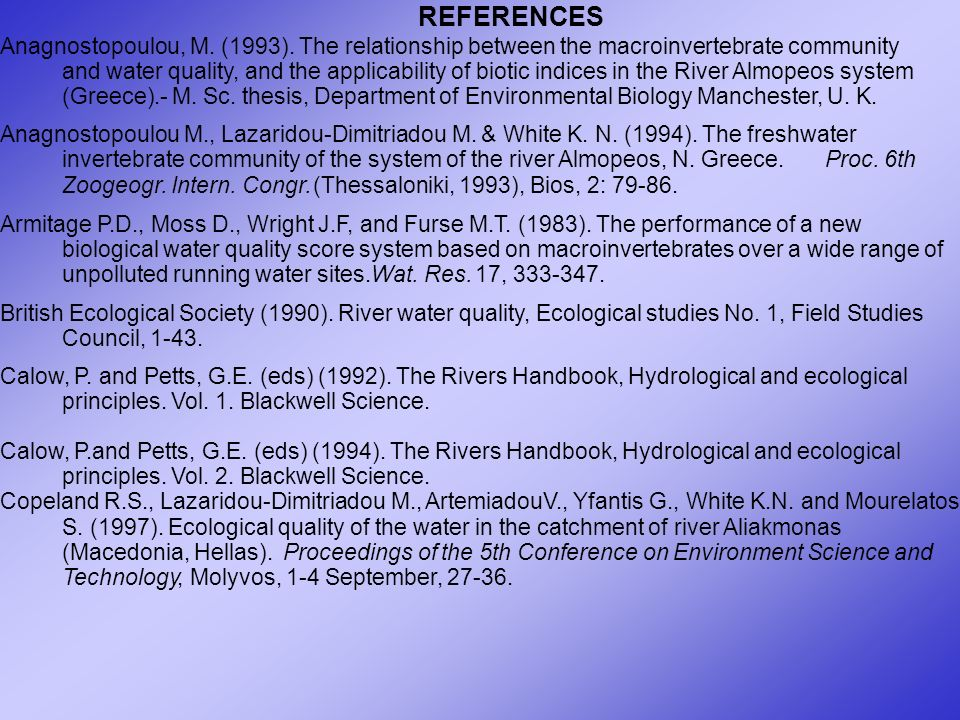 REFERENCES Anagnostopoulou, M. (1993).