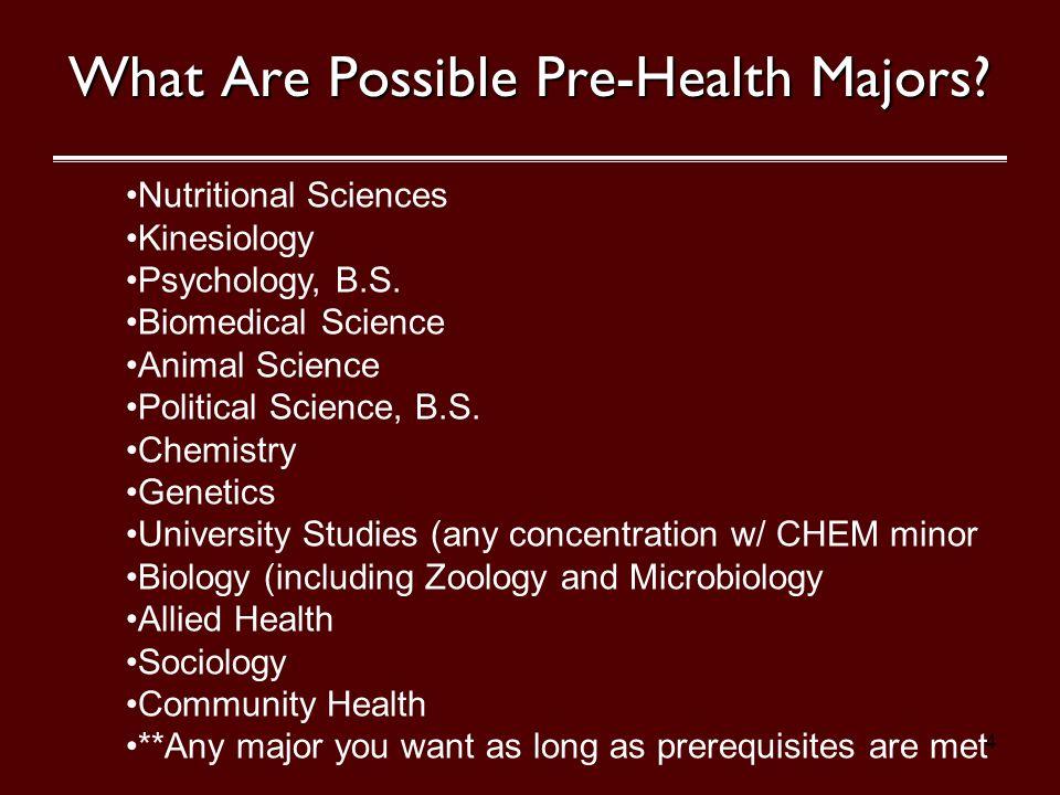 health majors