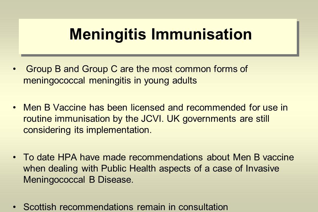 Update on Meningococcal Meningitis Health Protection Team April ...