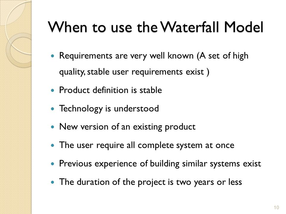Information Systems Development - ppt download | title | choose waterfall methodology