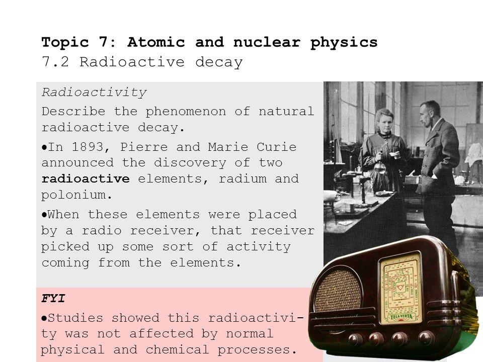 Natural radioactivity homework clip
