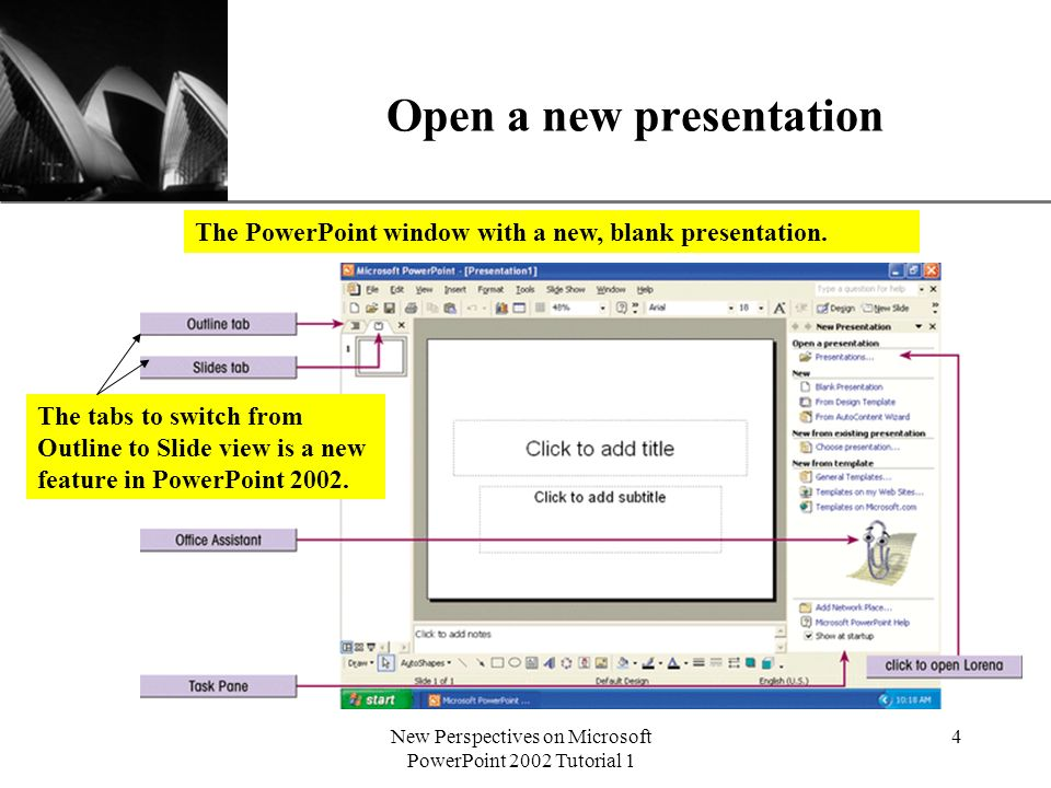 Xp new perspectives on microsoft powerpoint 2002 tutorial 1 1 4 xp toneelgroepblik Gallery