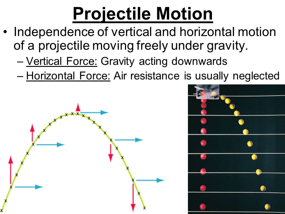 Mechanics motion equations and graphs combining and resolving 5 projectile motion independence ccuart Gallery