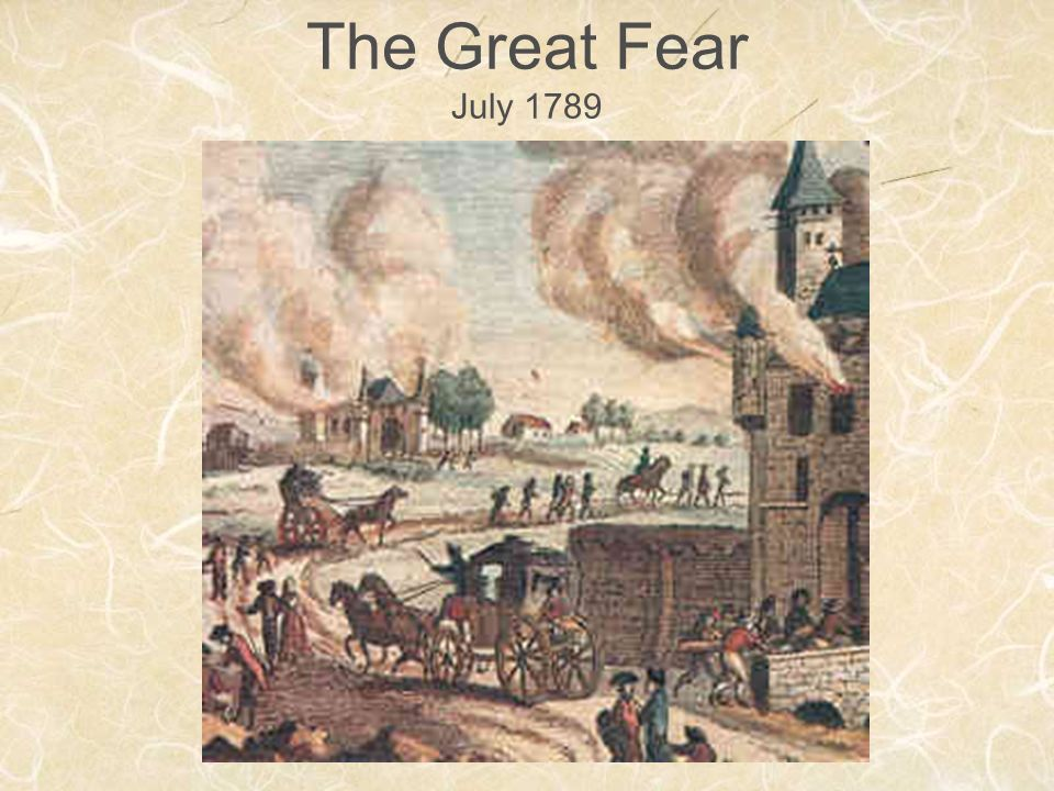 The Great Fear July 1789