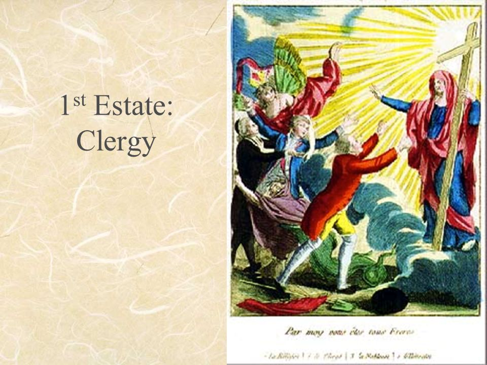 1 st Estate: Clergy