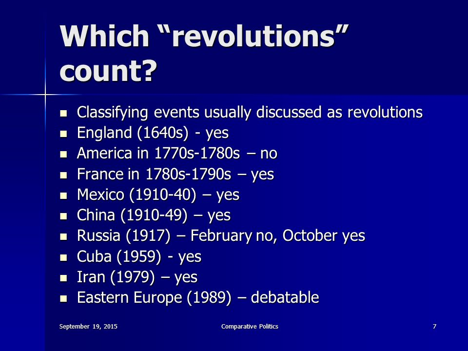 a discussion on revolutions