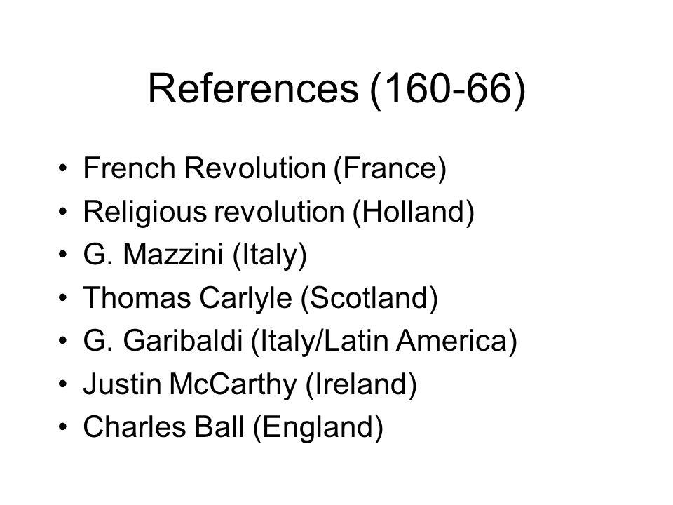 References (160-66) French Revolution (France) Religious revolution (Holland) G.
