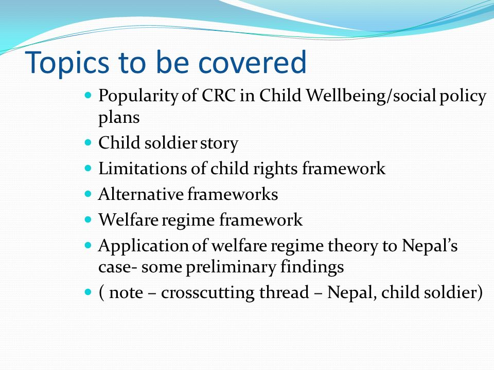 Social policy topics.... please help?