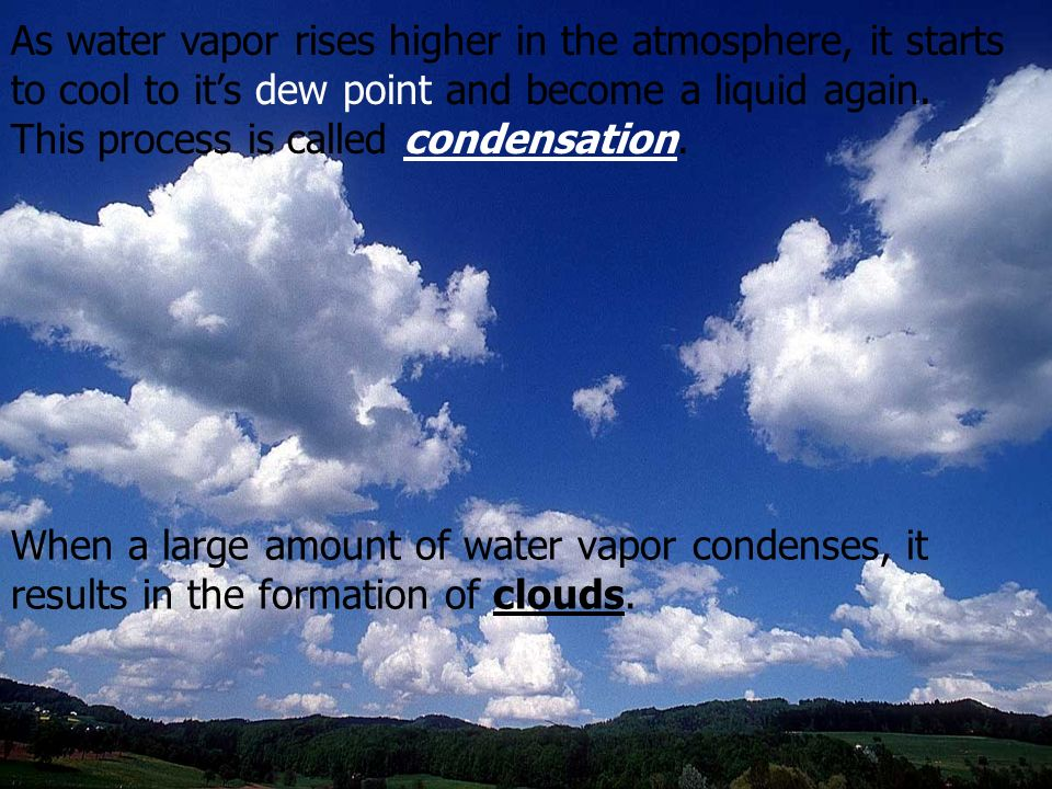 Humidity – is the amount of water vapor in the air.