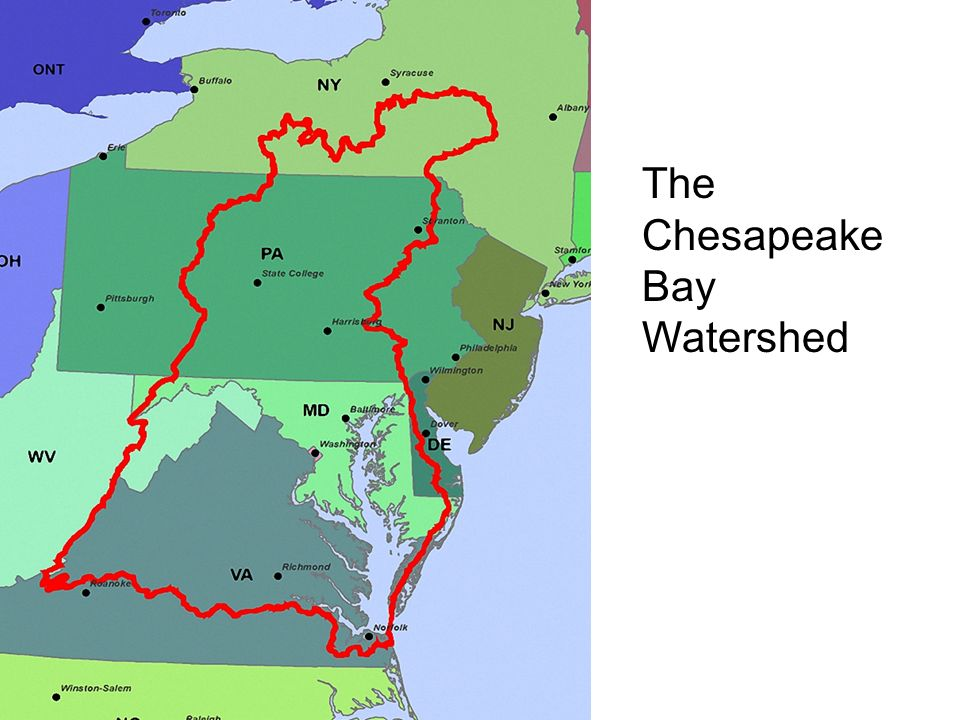 Chesapeake Bay The Chesapeake Bay Watershed Largest estuary in the