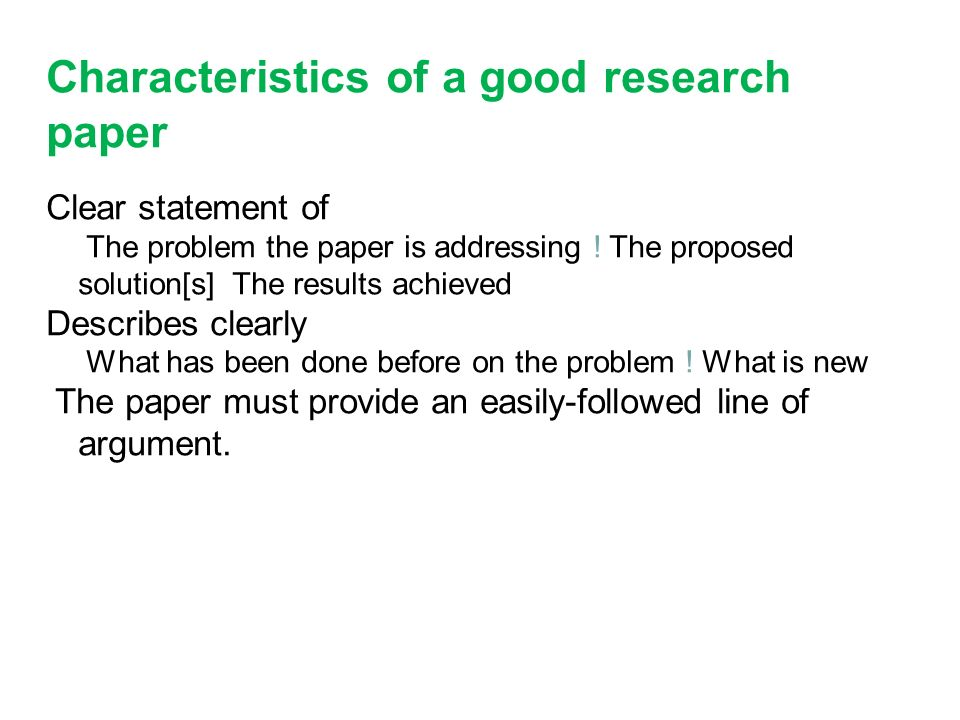 Writing A Good Conclusion For A Research Paper