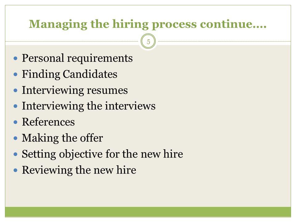 the hiring process group 4 areij alnajjar ashish mhatre saif